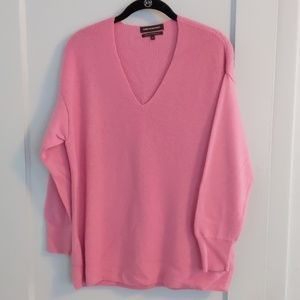 Pink Something Navy v neck sweater